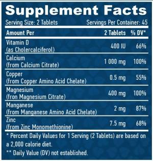 Calcium Magnesium & Zinc with Vitamin-D /90 Tabs.